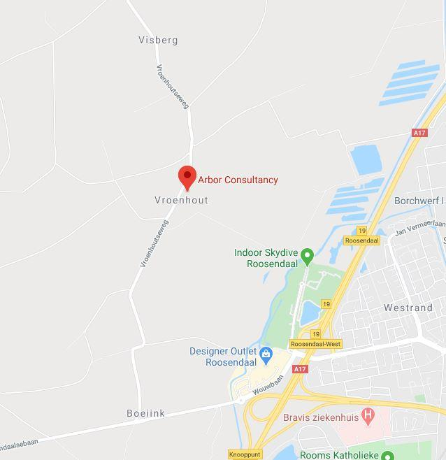 Google maps afbeelding van locatie Arbor Consultancy